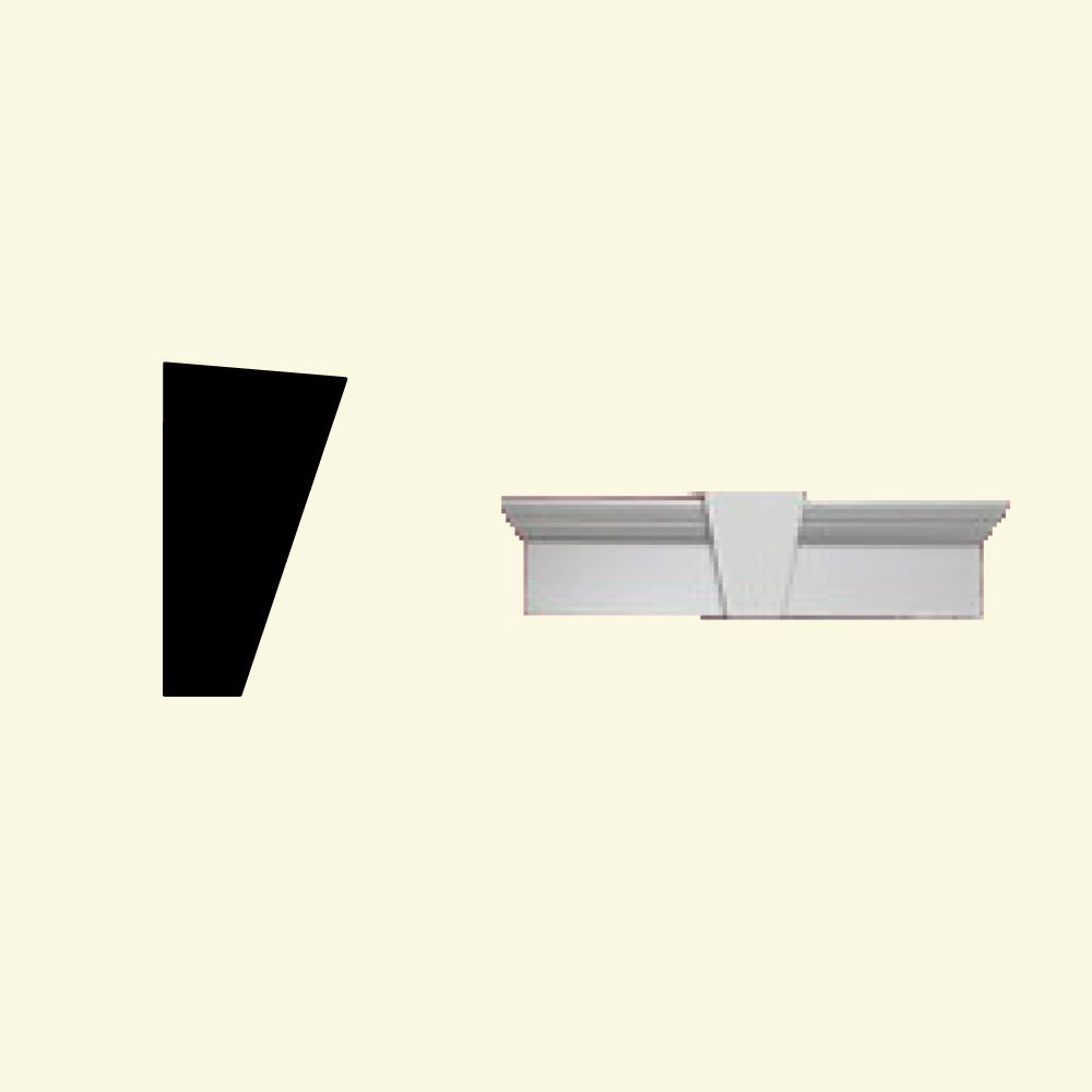 43 Inch x 11 Inch x 6 Inch Primed Polyurethane Window and Door Crosshead with Keystone