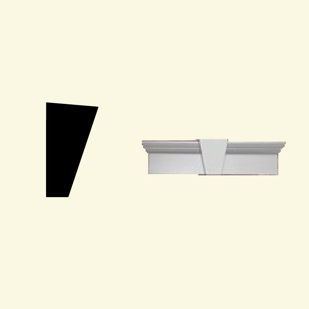 Linteau pour porte/fenêtre avec clé de voûte en polyuréthane apprêté 44 po x 7 po x 3-7/8 po