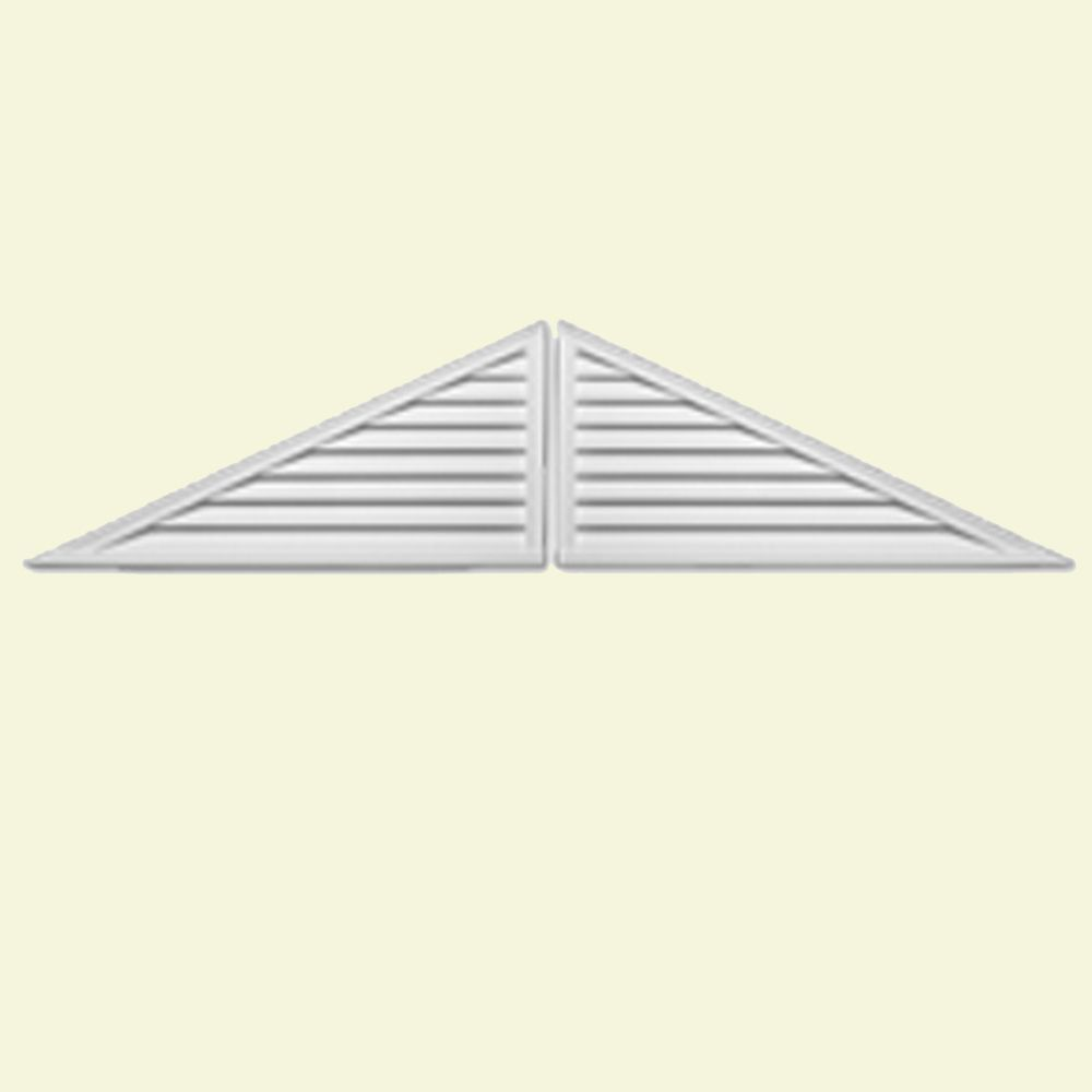 60-inch x 30-inch x 2-inch Polyurethane Decorative 2-Piece Triangle Louver Gable Grill Vent