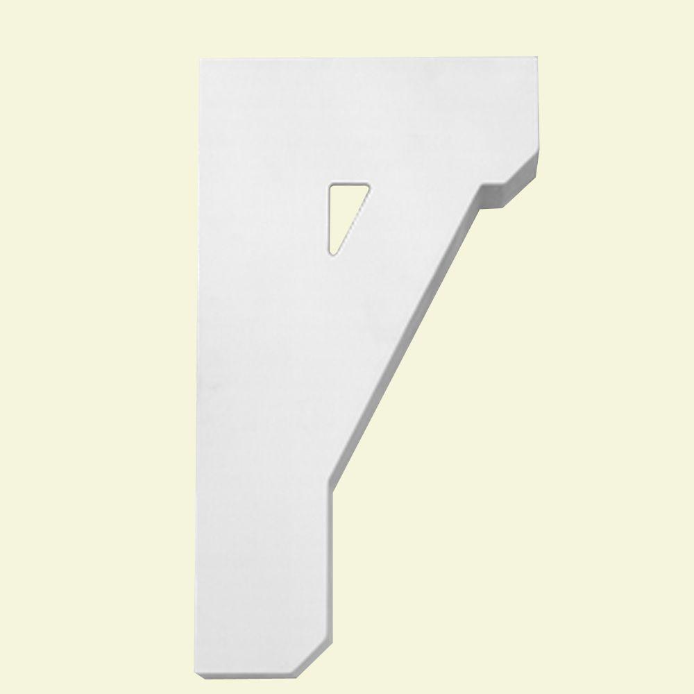 Console en polyuréthane apprêté 11 po x 20 po x 3-1/8 po