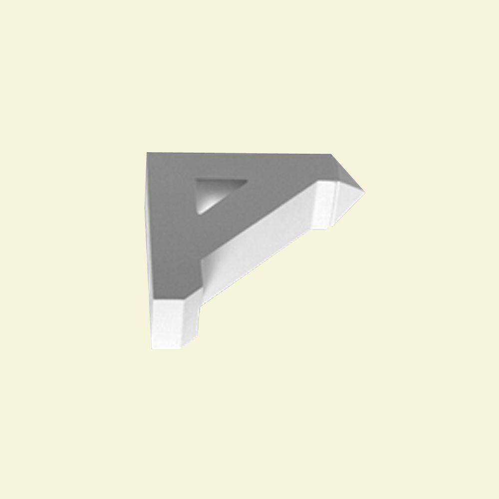 Console en polyuréthane apprêté 12 po x 12 po x 3-1/2 po