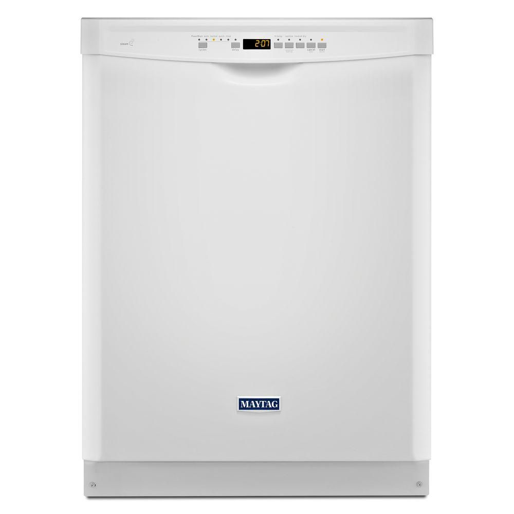 24-inch Dishwasher with Stainless Steel Tub and Large Capacity in White