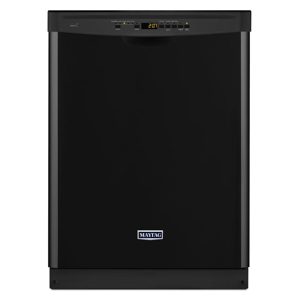 24-inch Dishwasher with Stainless Steel Tub and Large Capacity in Black