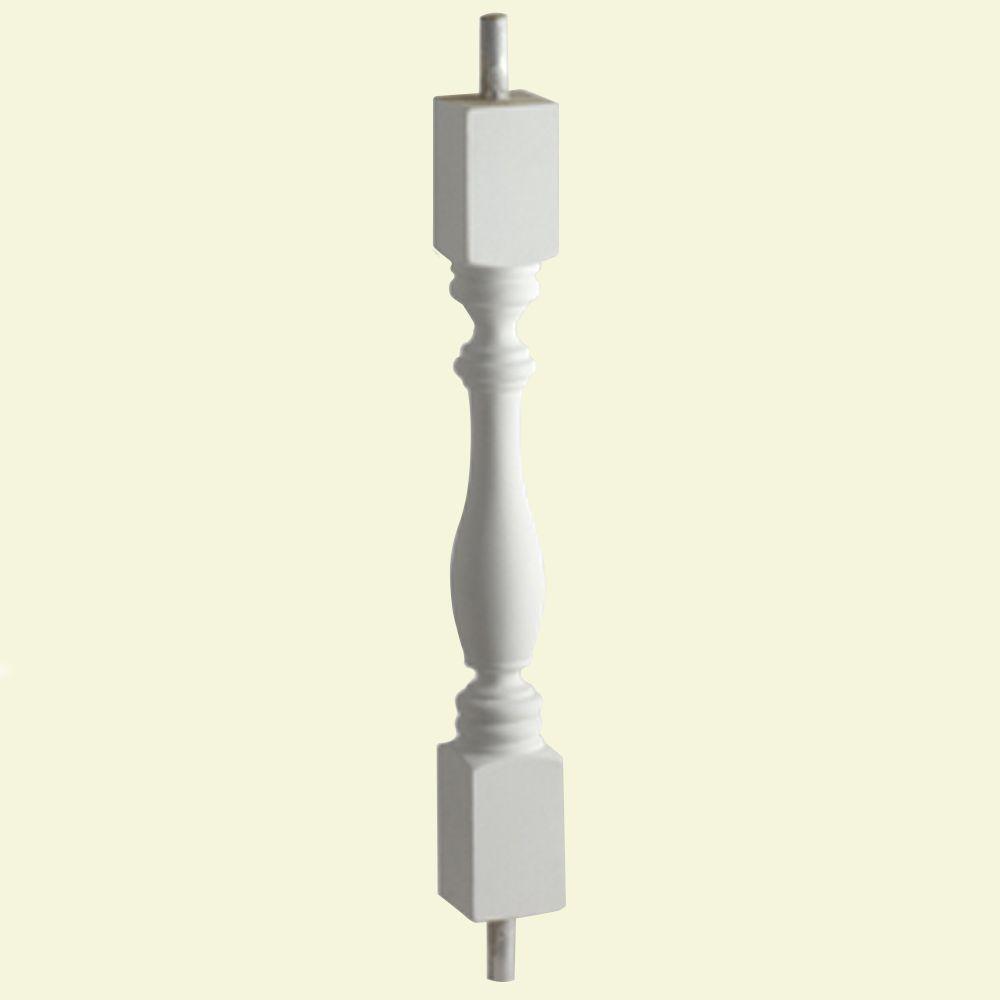 Balustre Woodruff pour balustrade de 7 po en polyuréthane 28 po x 4-1/4 po x 2-1/2 po