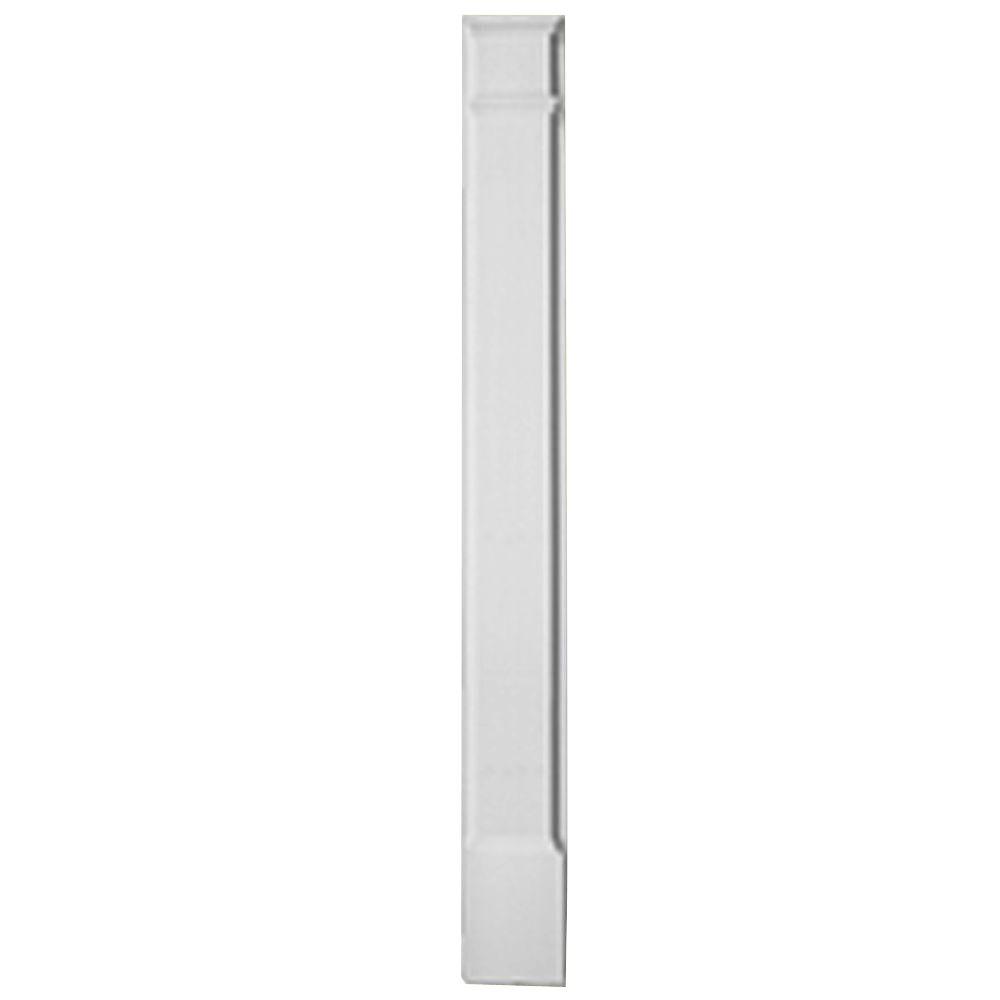 90 Inch x 6-1/4 Inch x 2-1/2 Inch Pilaster Plain Molded Plinth Smooth