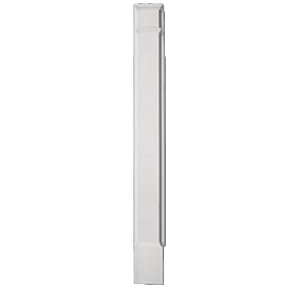 90 Inch x 7 Inch x 1-5/16 Inch Pilaster Plain Economy Molded Plinth Smooth