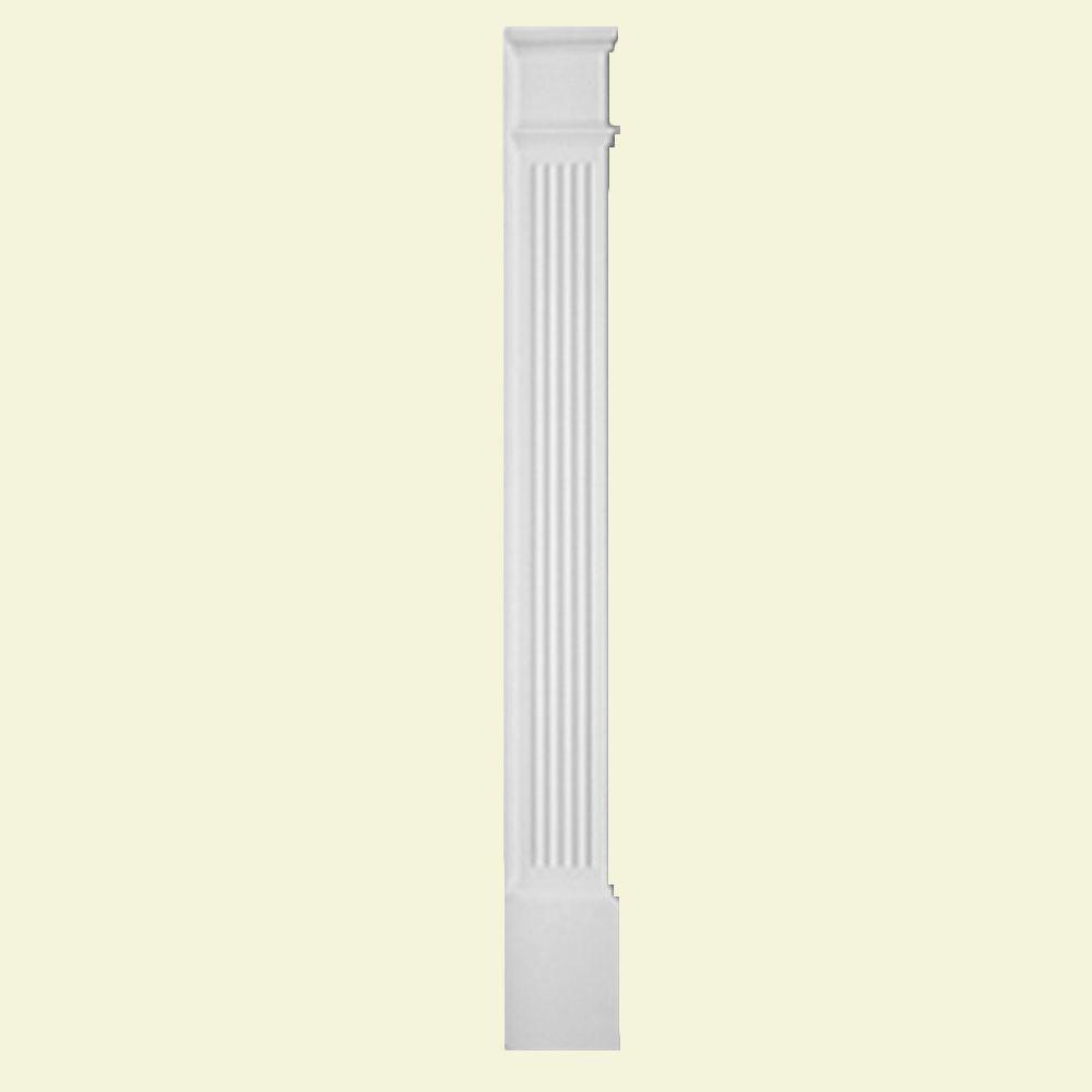 Pilastre à moulure économique cannelée avec plinthe lisse 90 po x 9 po x 1-5/16 po