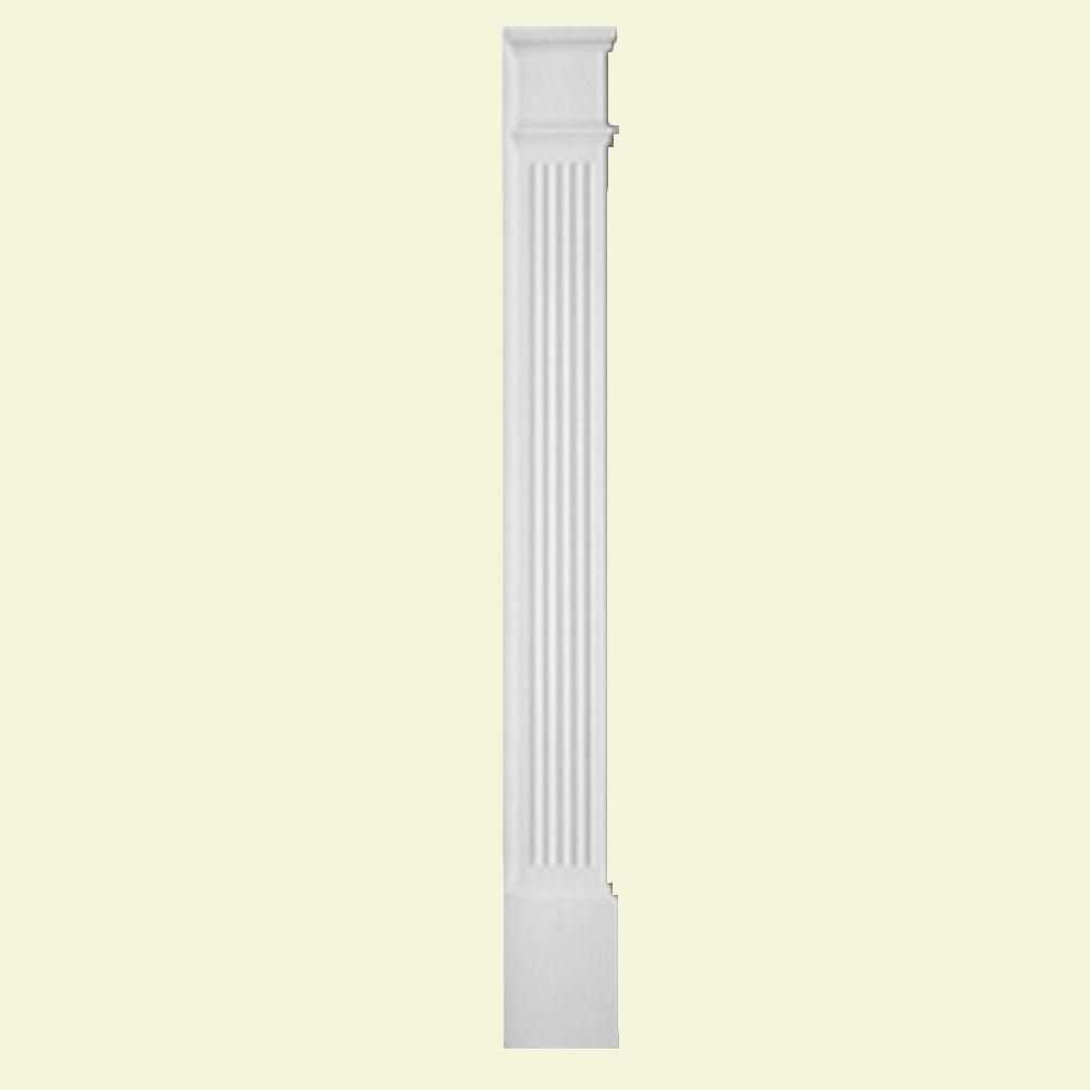 90 Inch x 9 Inch x 1-5/16 Inch Pilaster Fluted Economy Molded Plinth Smooth