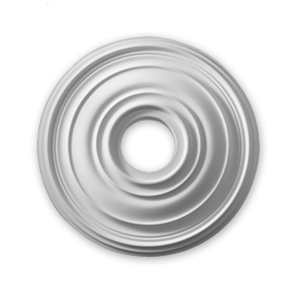 16 Inch Traditional Smooth Surface Ceiling Medallion (1-Piece)