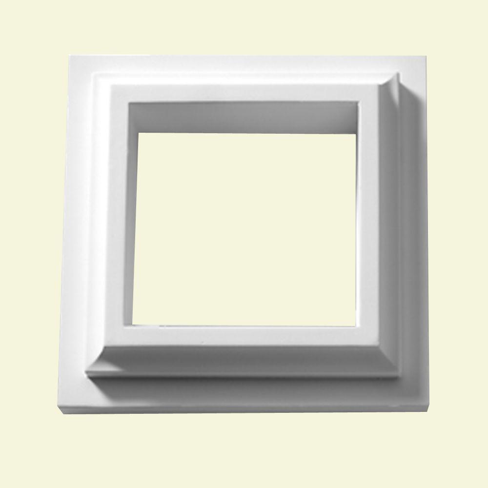 2 Inch x 11-1/8 Inch x 11-1/8 Inch Polyurethane Trim Collar for Straight or Corner Newel Post in ...