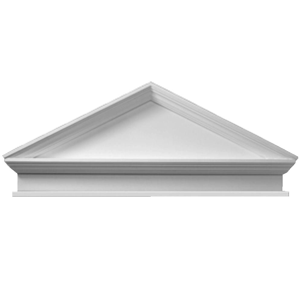 Fypon 54 Inch X 22 Inch X 3 1 8 Inch Combo Peaked Pediment