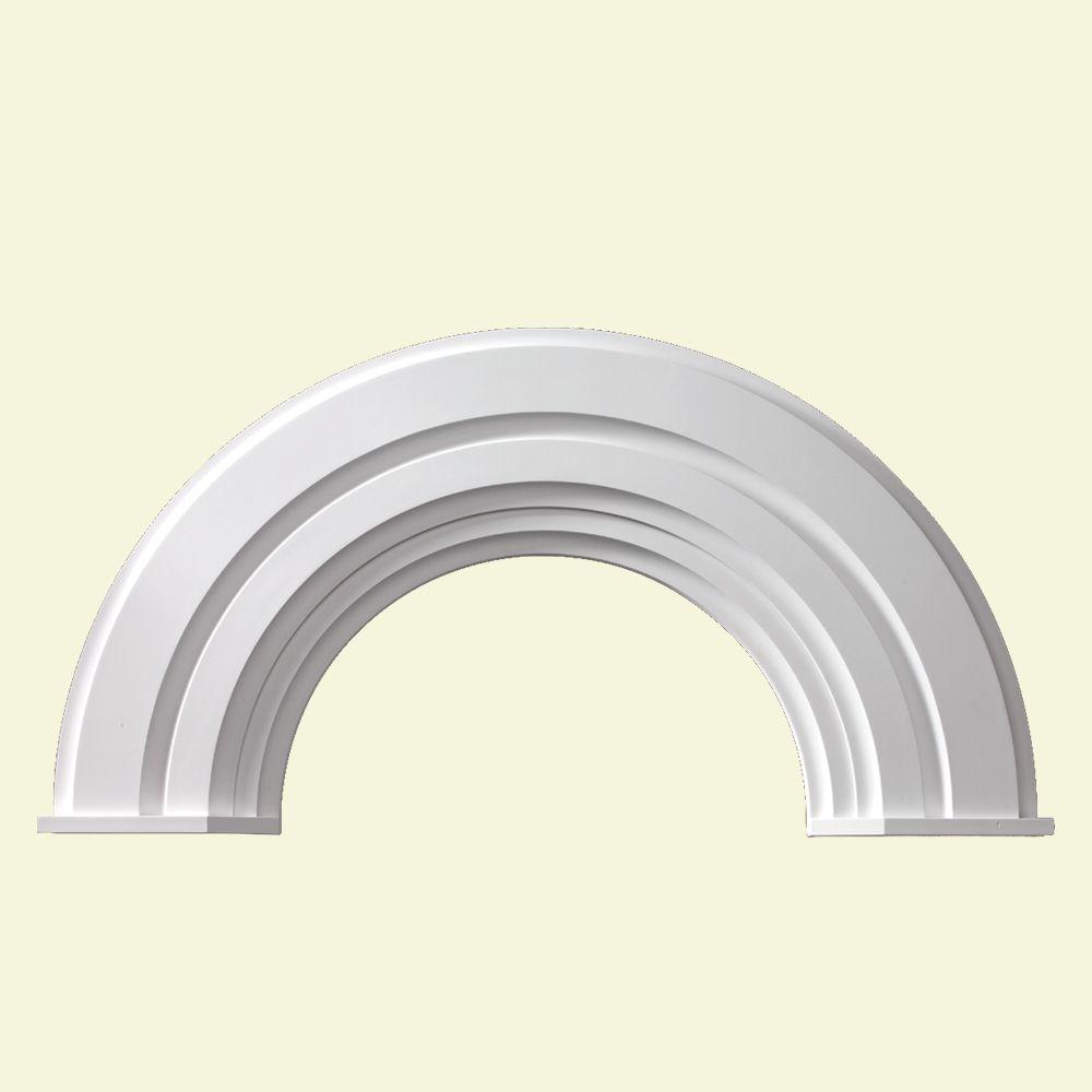 Moulure décorative en demi-cercle avec capuchon en polyuréthane 56 po x 28-3/4 po x 2-3/8 po