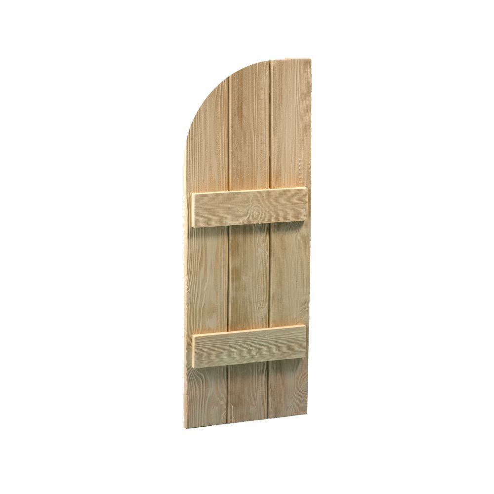 48 Inch x 12 Inch x 1-3/4 Inch Wood Grain Texture 2-Board and Batten Arch Shutter