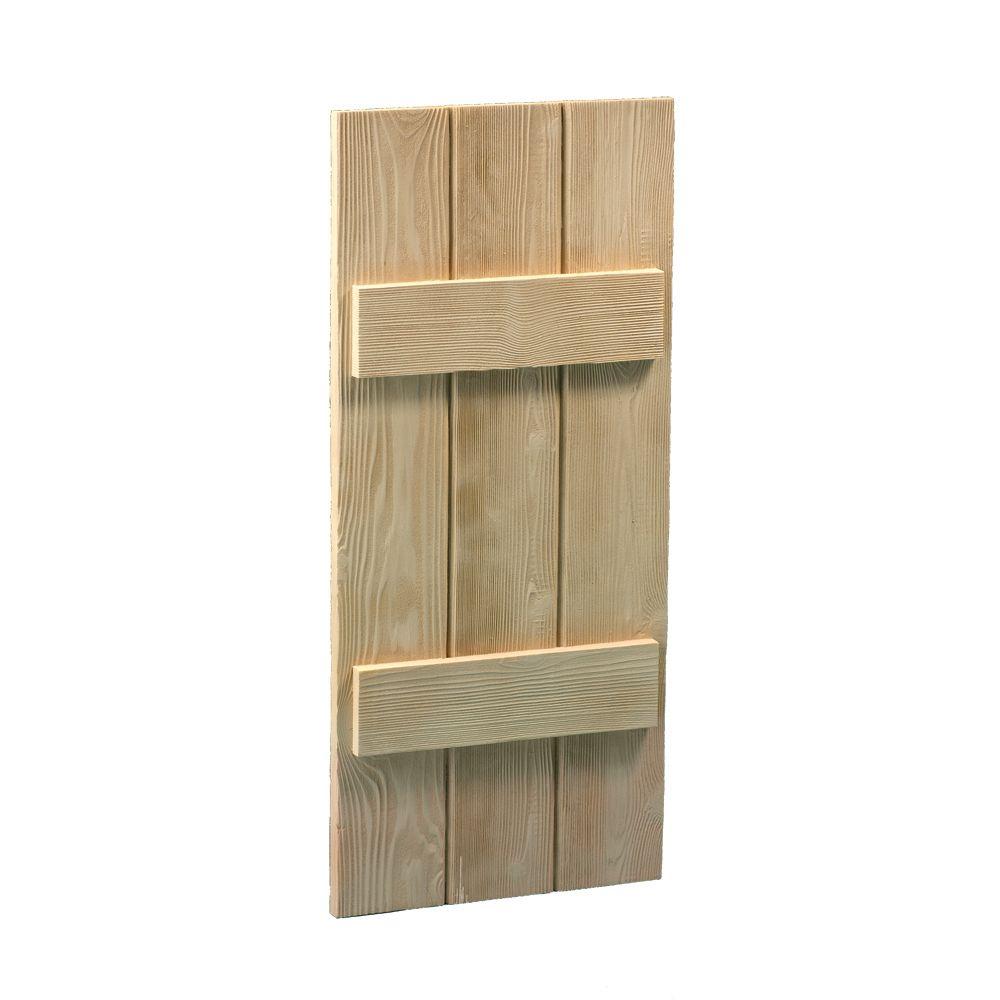 39 Inch x 14 Inch x 1-1/2 Inch Wood Grain Texture 3 Board and Batten Shutter