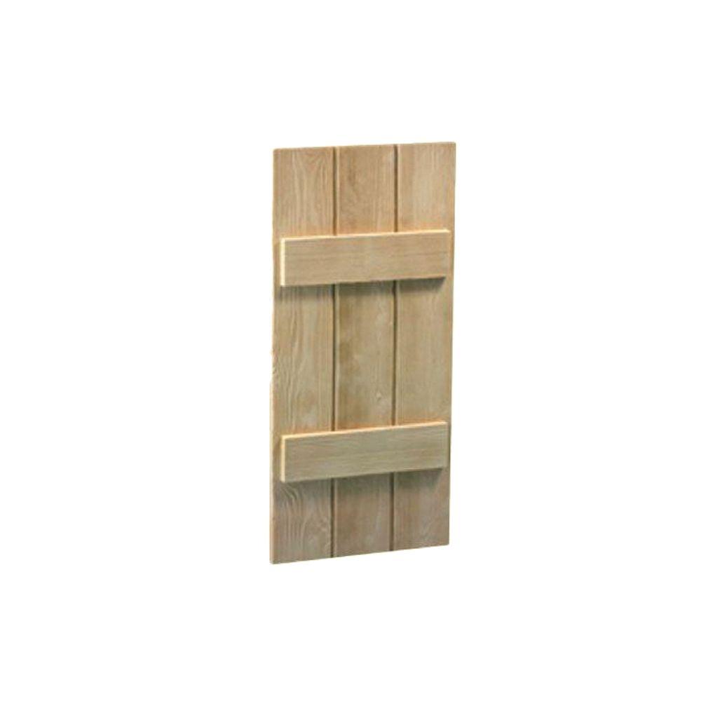Volet à 3 planches et à tasseaux à texture de grain de bois 47 po x 14 po x 1-1/2 po
