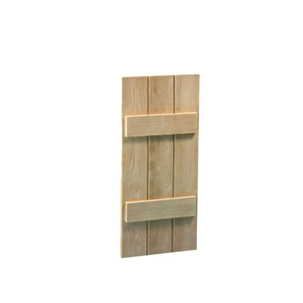 42 Inch x 16 Inch x 1-1/2 Inch Wood Grain Texture 3-Board and Batten Shutter