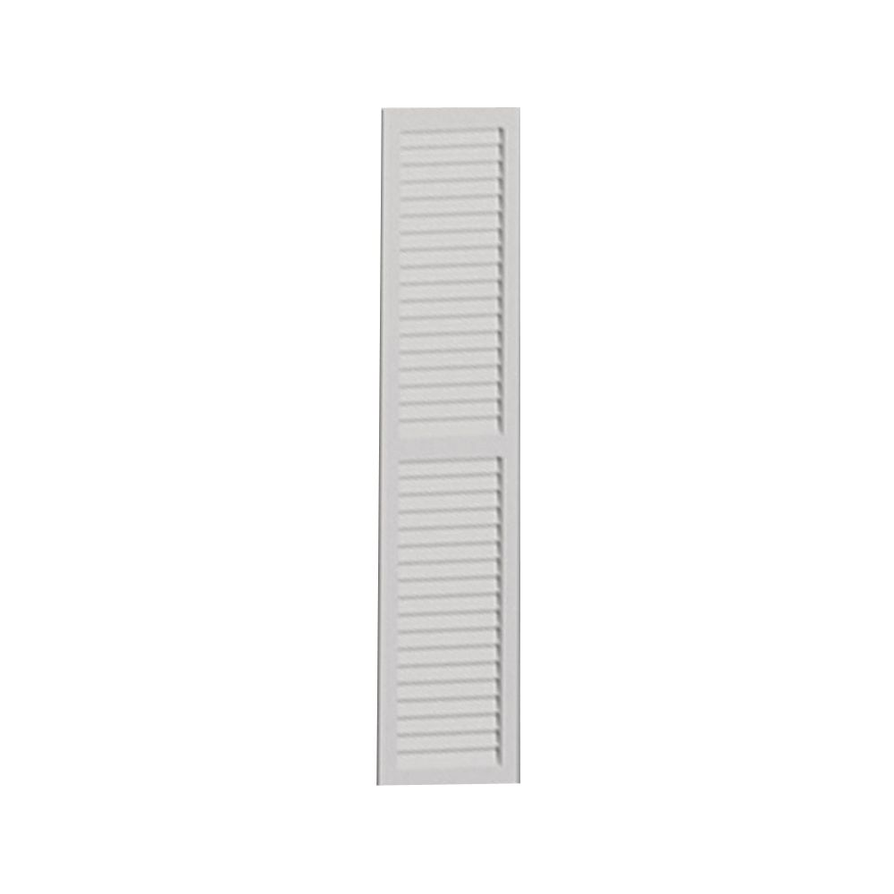 54 Inch x 16 Inch x 1 Inch Louvered with Center Rail Smooth Shutter