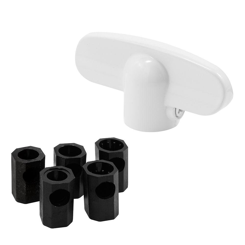 Prime-Line Single Cylinder Rim Deadlatch, Brass Painted Diecast