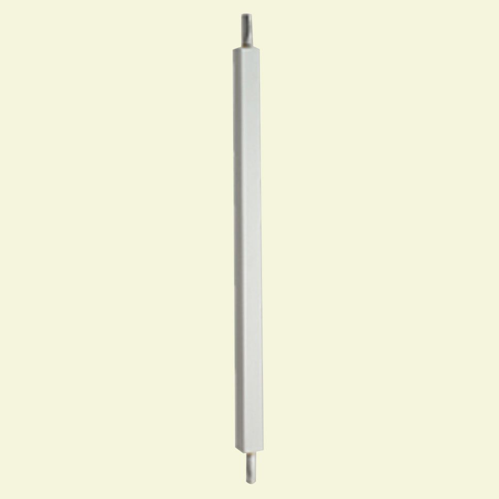 28 Inch x 1-3/4 Inch x 1-3/4 Inch Polyurethane Smooth Surface Square Baluster for 5 Inch Balustra...