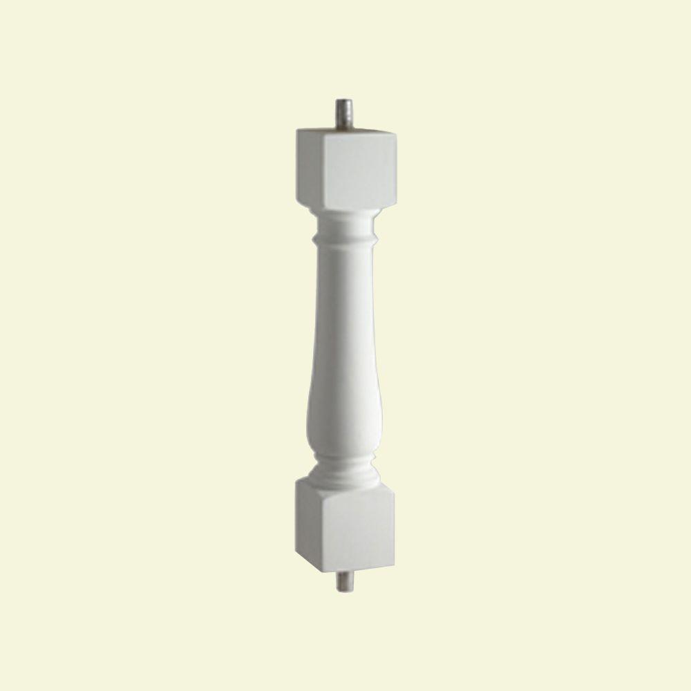 Balustre classique pour balustrade de 5 po en polyuréthane 32 po x 2-1/2 po x 2-1/2 po