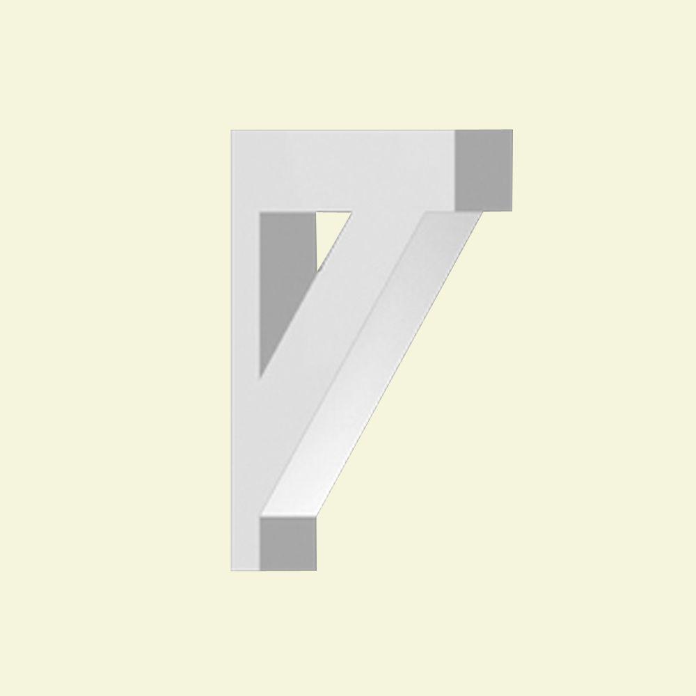 Console en polyuréthane apprêté 11-1/2 po x 16 po x 3 po