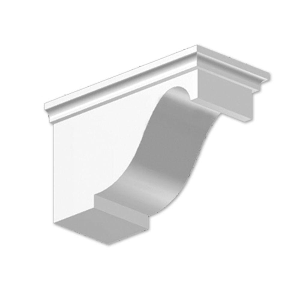 6 3/4-inch x 5 1/2-inch x 11 1/2-inch Primed Polyurethane Dentil Block