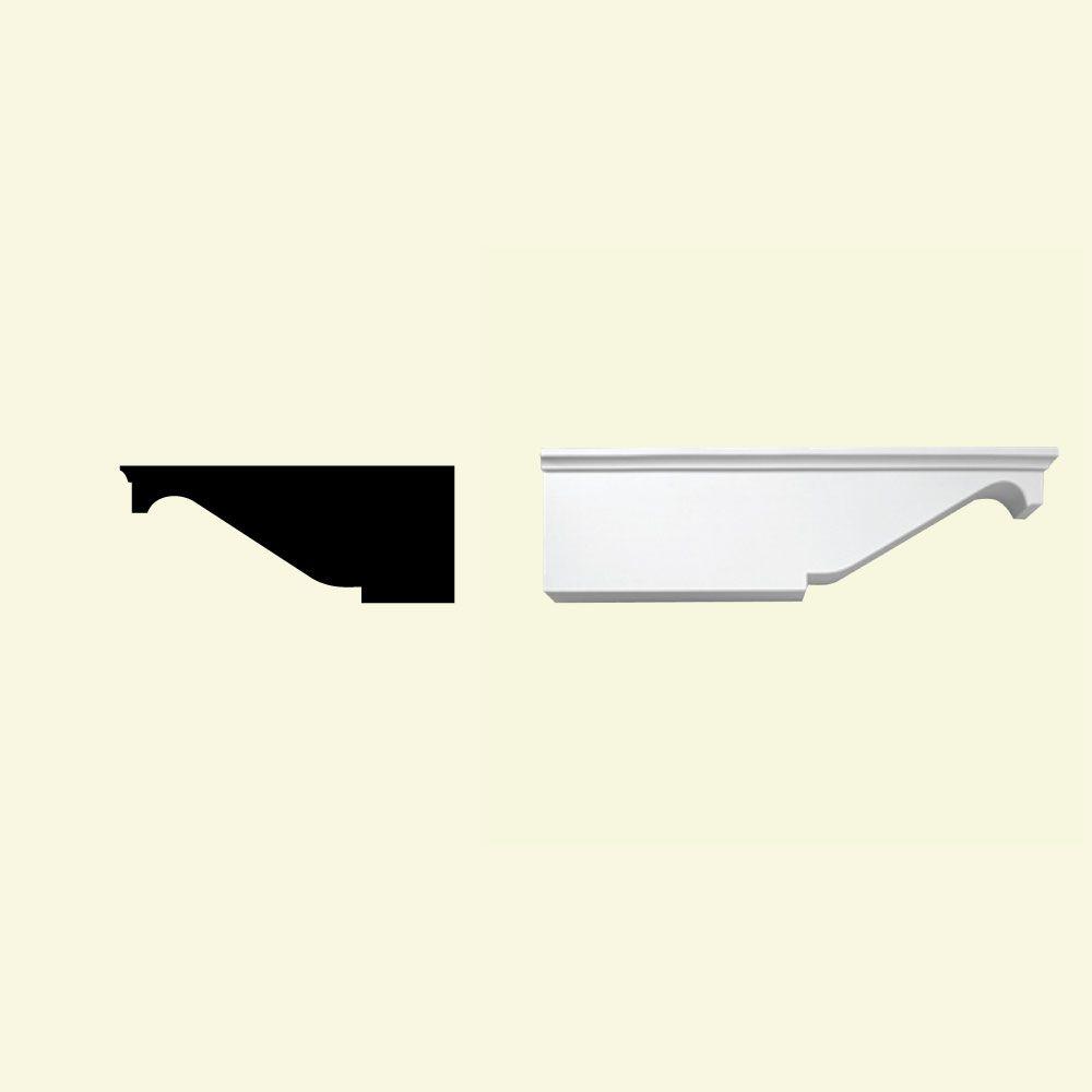 Bloc dentelé en polyuréthane apprêté 7-3/8 po x 7 po x 18 po