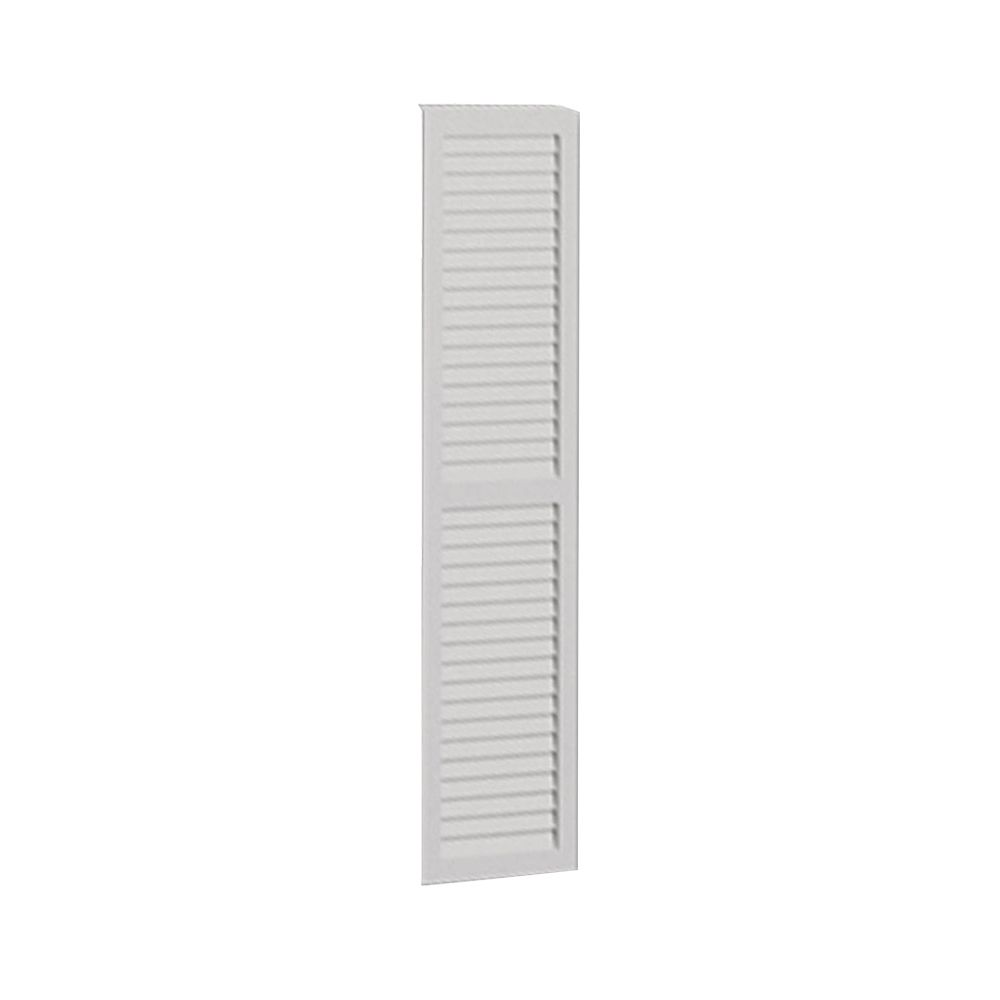 48 Inch x 12 Inch x 1 Inch Louvered with Center Rail Smooth Shutter LVSH12X48FNCR in Canada