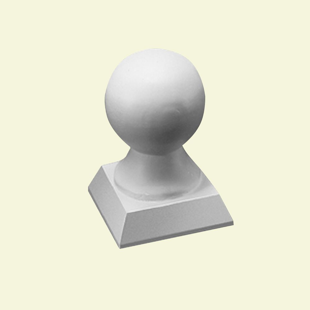 4-3/4 Inch x 3-1/2 Inch x 3-1/2 Inch Polyurethane Pedestal Ball Top for Newel Post in 5 or 7 Inch...