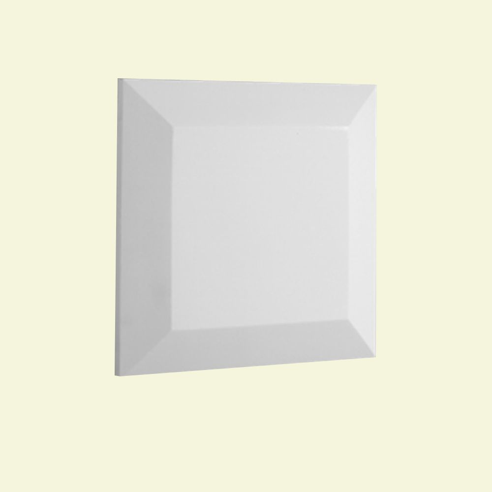 1-1/2 Inch x 6-1/2 Inch x 6-1/2 Inch Polyurethane Flat Post Top for Newel Post in 5 Inch Balustra...