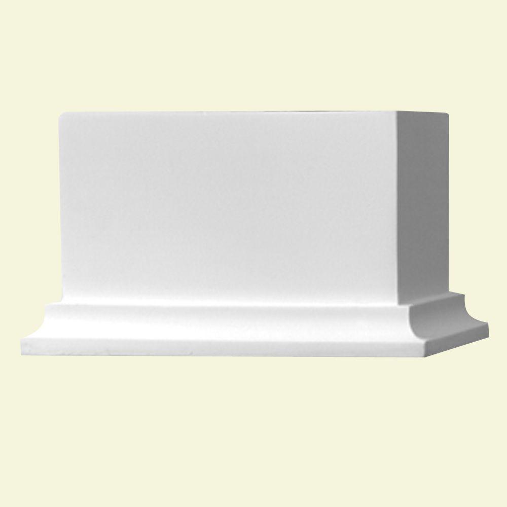 Bloc de support de rampe pour balustrade de 5 ou 7 po en polyuréthane 7-1/4 po x 4 po x 4 po