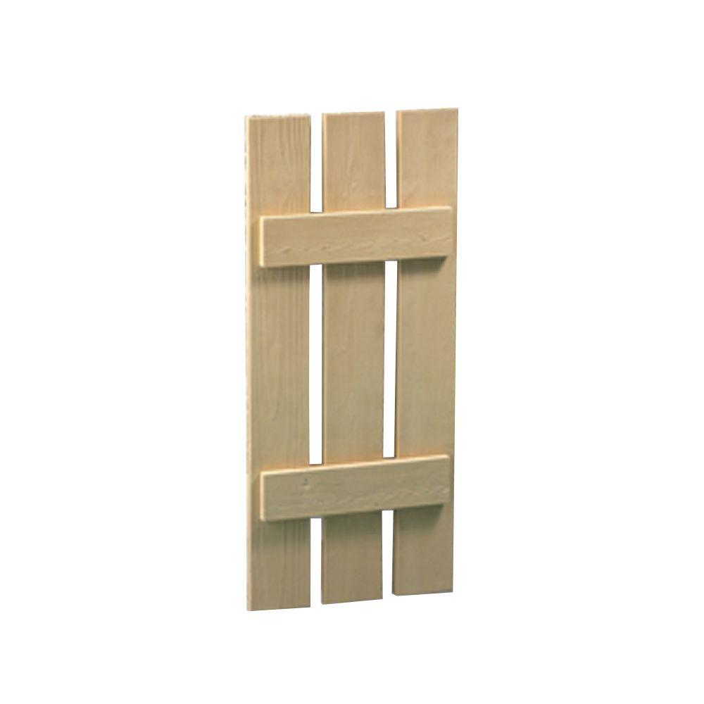 Volet à 3 planches et à tasseaux à texture de grain de bois 54 po x 18 po x 1-1/2 po - ABANDONNÉ