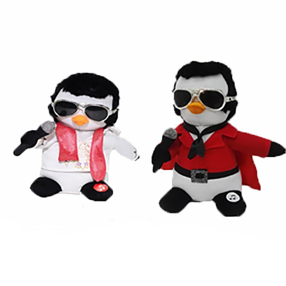 Figurine musicale et animée dElvisMC  - Pingouin
