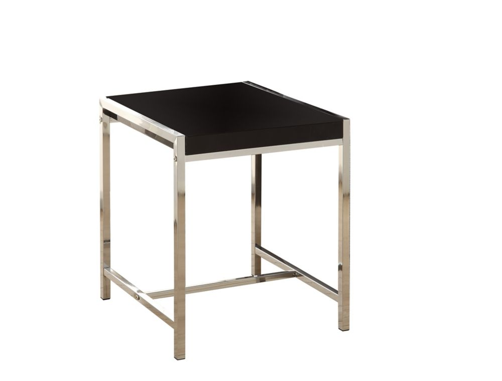 Accent Table - Black Acrylic With Chrome Metal I 3049 Canada Discount