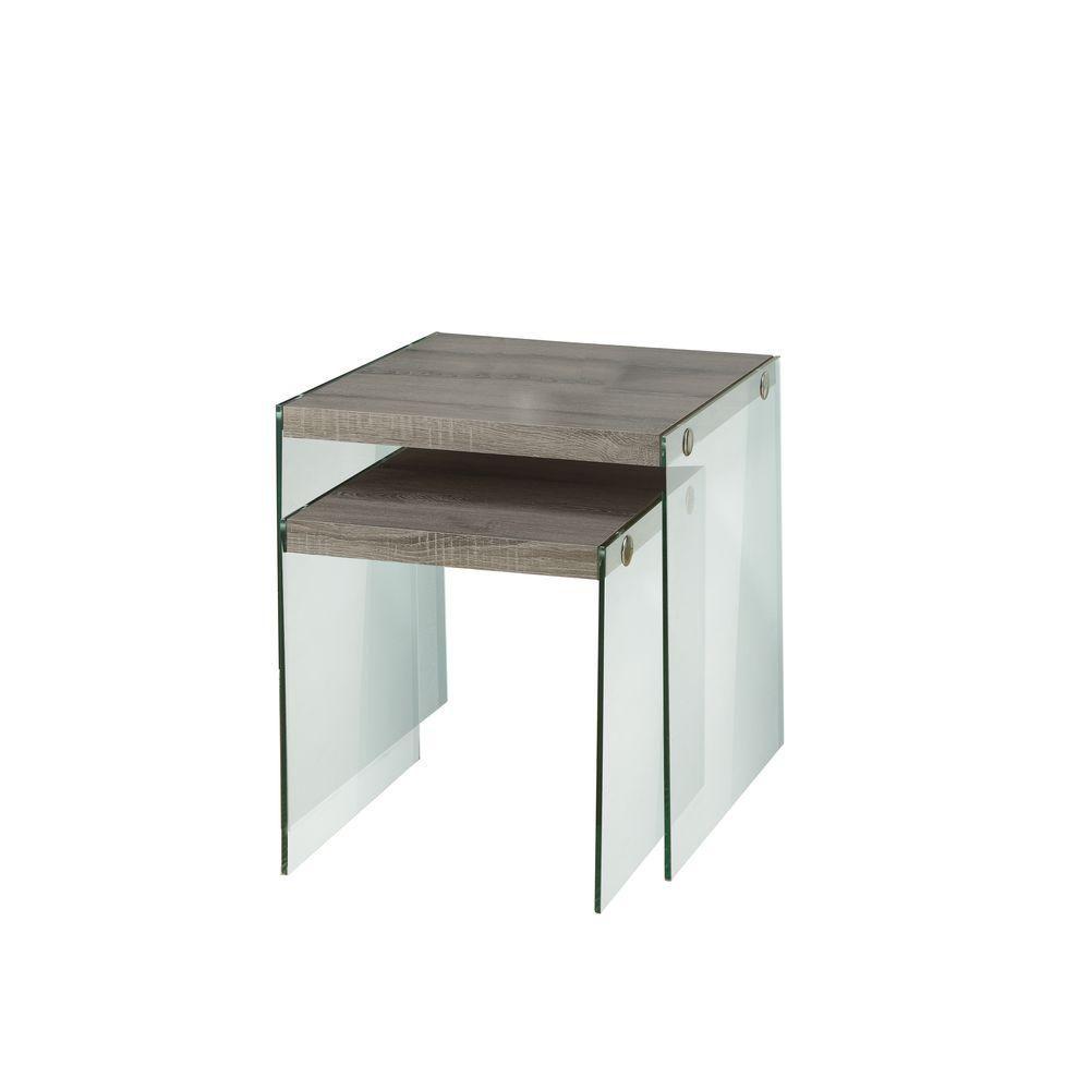 Tables Gigognes - Ens. 2Pcs / Taupe Fonce