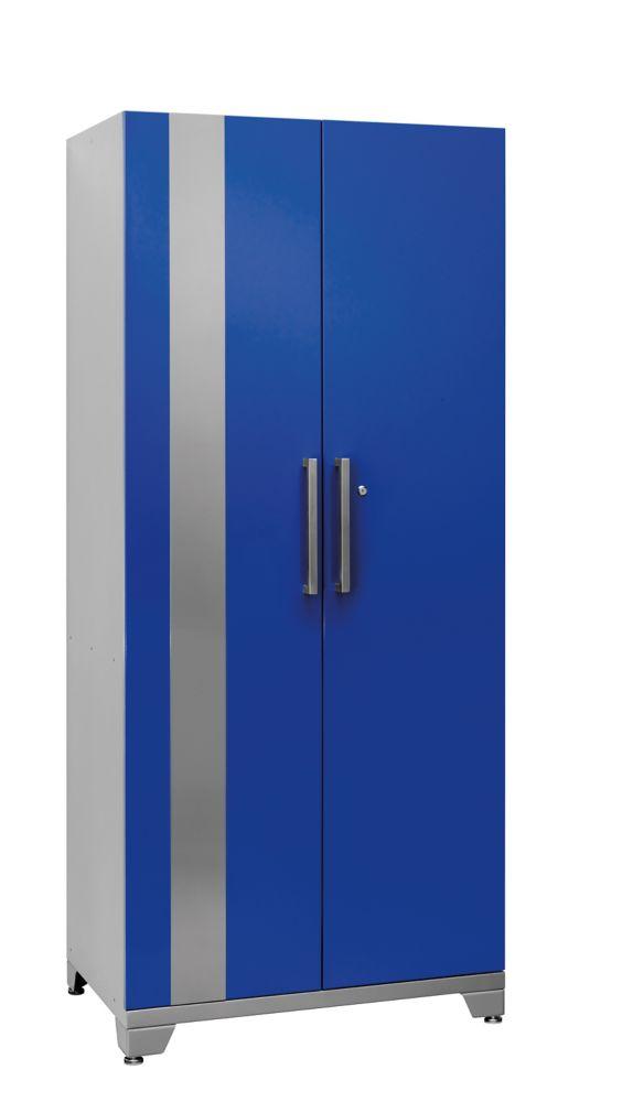 Case métallique bleue série Performance Plus, 83po H X 36po L X 24po P