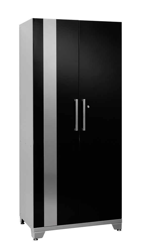 Performance Plus 83 Inch H x 36 Inch W x 24 Inch D Metal Locker Cabinet in Black