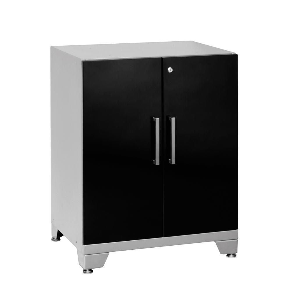 Newage products performance plus inch h x 28 inch w for Black cabinet with doors