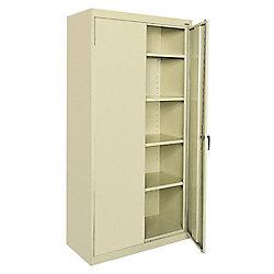 Classic Series 72-inch H x 36-inch W x 18-inch D Steel Freestanding Storage Cabinet in Putty