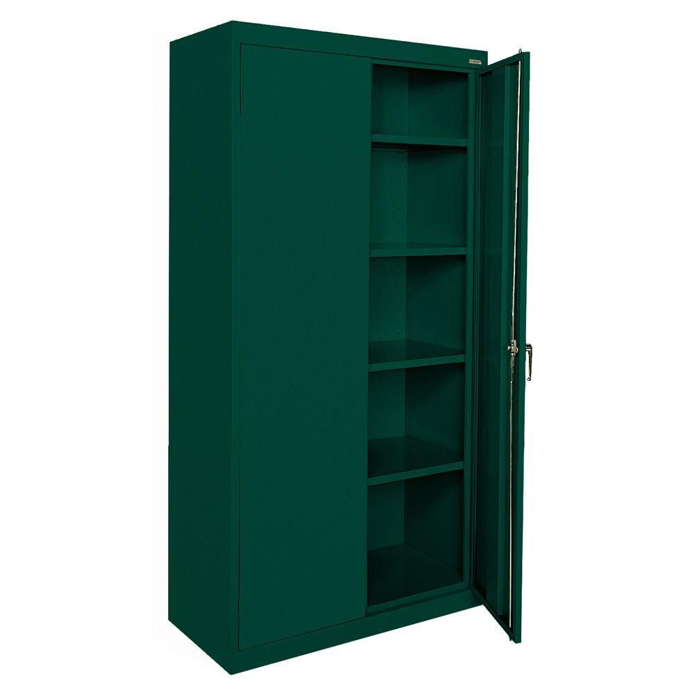 Classic Series 36 Inch W x 72 Inch H x 18 Inch D Storage Cabinet with Adjustable Shelves in Fores...