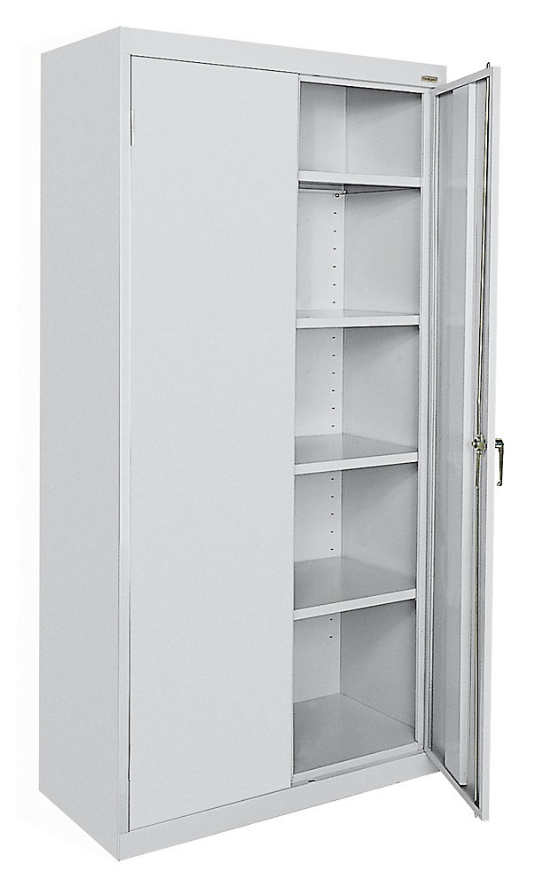 Classic 36-inch L x 72-inch H x 18-inch H Storage Cabinet with Adjustable Shelves in Dove Grey