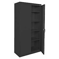 Classic Series 72-inch H x 36-inch W x 18-inch D Steel Freestanding Storage Cabinet in Black