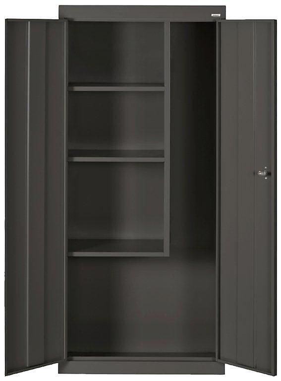 66-inch H x 30-inch W x 15-inch D Steel Freestanding Combination Storage Cabinet in Black