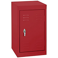 15 Inch L x 15 Inch D x 24 Inch H Single Tier Welded Steel Locker in Fire Engine Red