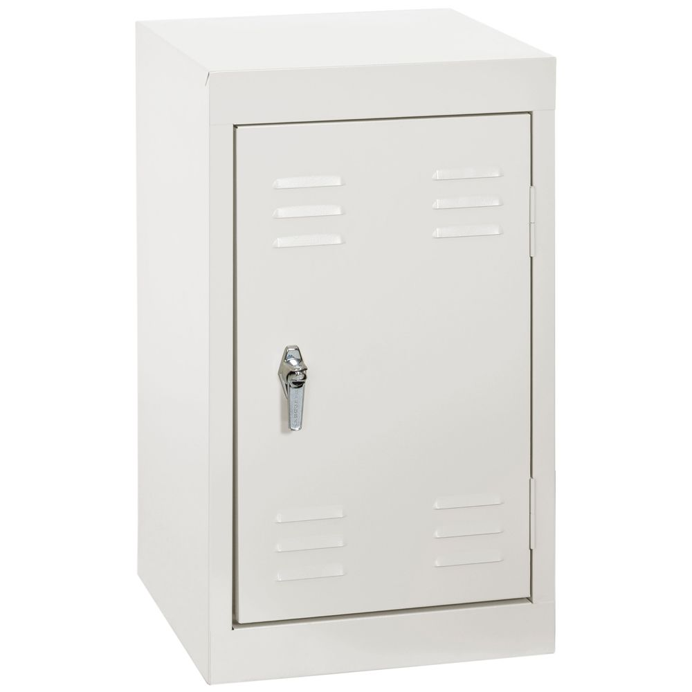 15 Inch L x 15 Inch D x 24 Inch H Single Tier Welded Steel Locker in White
