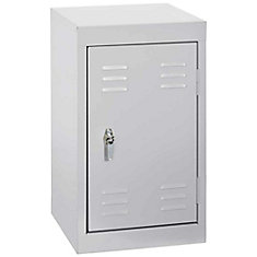 15 Inch L x 15 Inch D x 24 Inch H Single Tier Welded Steel Locker in Dove Gray
