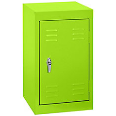 15 Inch L x 15 Inch D x 24 Inch H Single Tier Welded Steel Locker in Electric Green