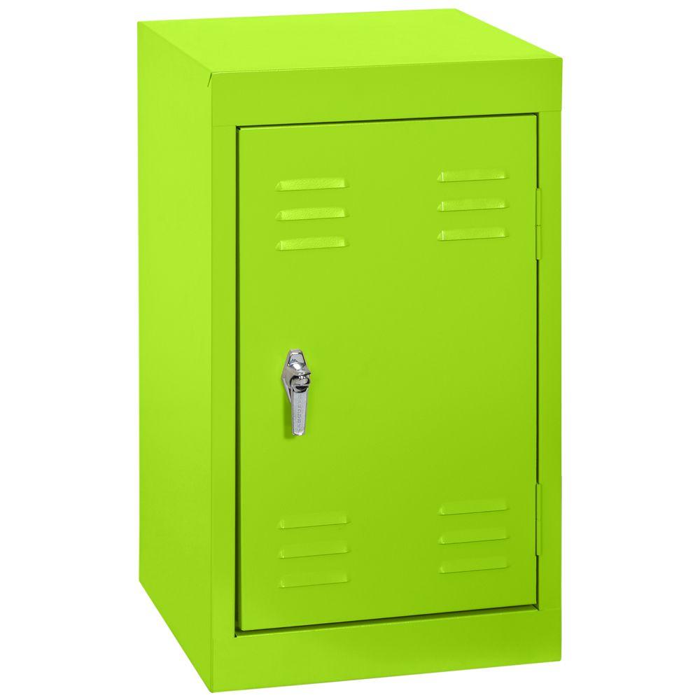 15 Inch L x 15 Inch D x 24 Inch H Single Tier Welded Steel Locker in Electric Green
