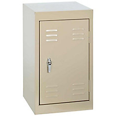 15 Inch L x 15 Inch D x 24 Inch H Single Tier Welded Steel Locker in Putty