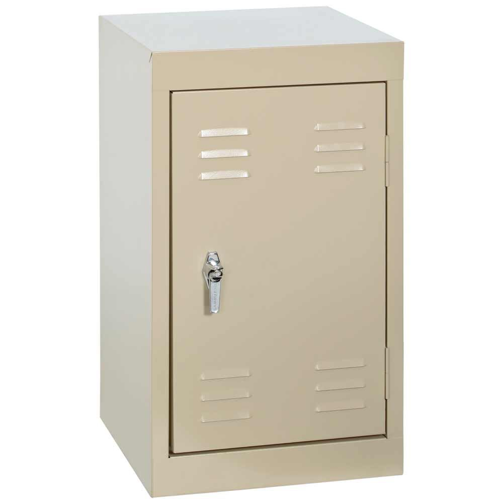 15 Inch L x 15 Inch D x 24 Inch H Single Tier Welded Steel Locker in Putty